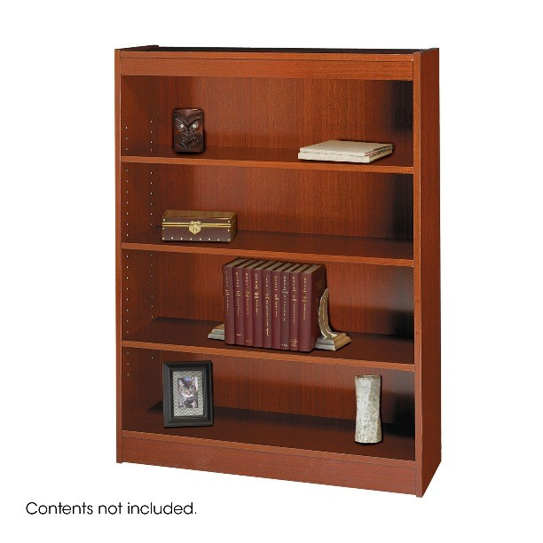 Safco Square-Edge 4 Shelves Wood Veneer Bookcase 1503