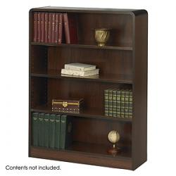 Safco Radius-Edge 4 shelves Wood Veneer  Bookcases 1523
