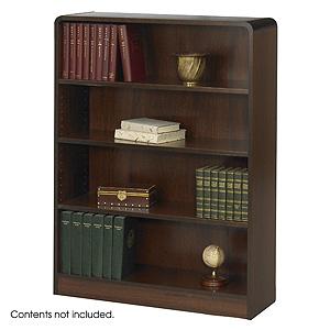 Safco Radius-Edge 4 shelves Wood Veneer  Bookcases 1523