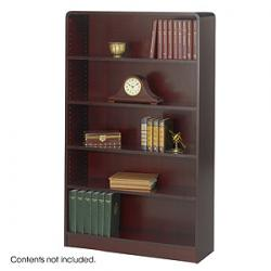 Safco Radius-Edge 5 shelves Wood Veneer  Bookcases 1524