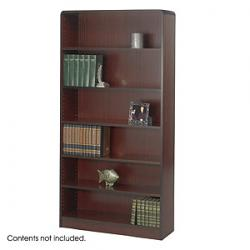 Safco Radius-Edge 6 shelves Wood Veneer  Bookcases 1525