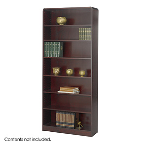 Safco Radius-Edge 7 shelves Wood Veneer  Bookcases 1526