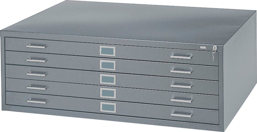 Safco 5-Drawer Steel Flat File for 36x48 Inch Documents 4998