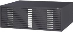 Safco 10-Drawer Steel Flat File for 30x42 Inch Documents 4986