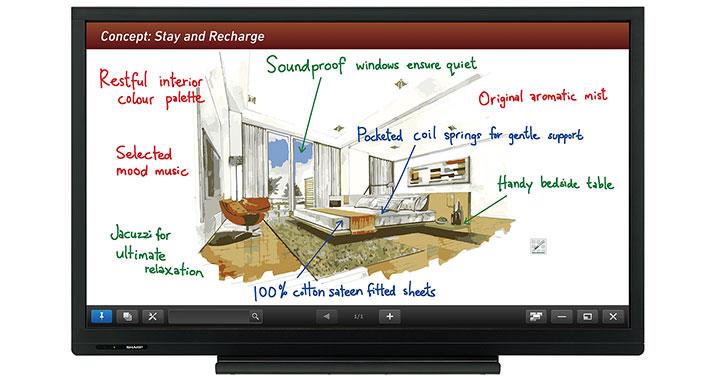 Sharp PN-C703B AQUOS Interactive Touch Screen Display