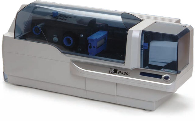 zebra p430i single u0026 double sided card printer
